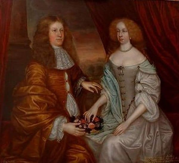 P15: Double Portrait of Charles, 5th Earl of Haddington and Margaret, Countess of Rothes.