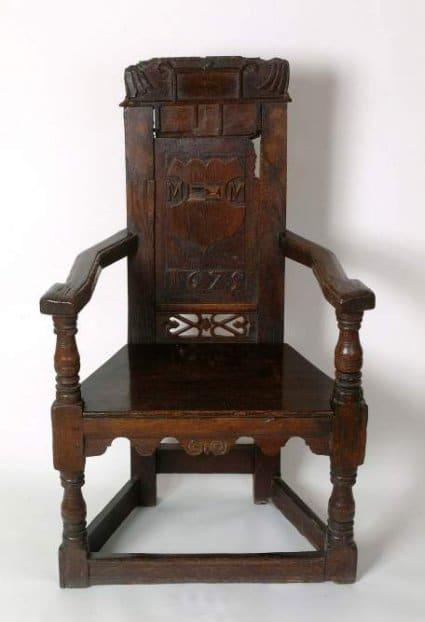 F6. Wooden armchair