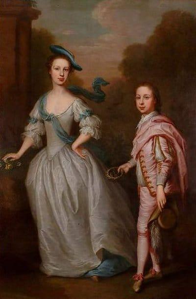 P18: Hannah Howard and her elder son, John, later 11th Earl