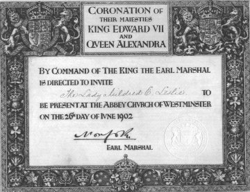 B12. 1902 Invitation to King Edward Vll's Coronation